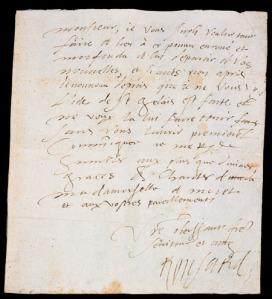 Ronsard's handwriting
